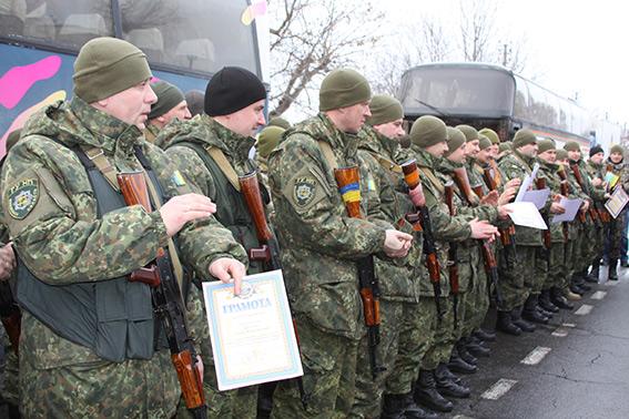 Вінницькі правоохоронці повернулись з зони АТО - фото 1