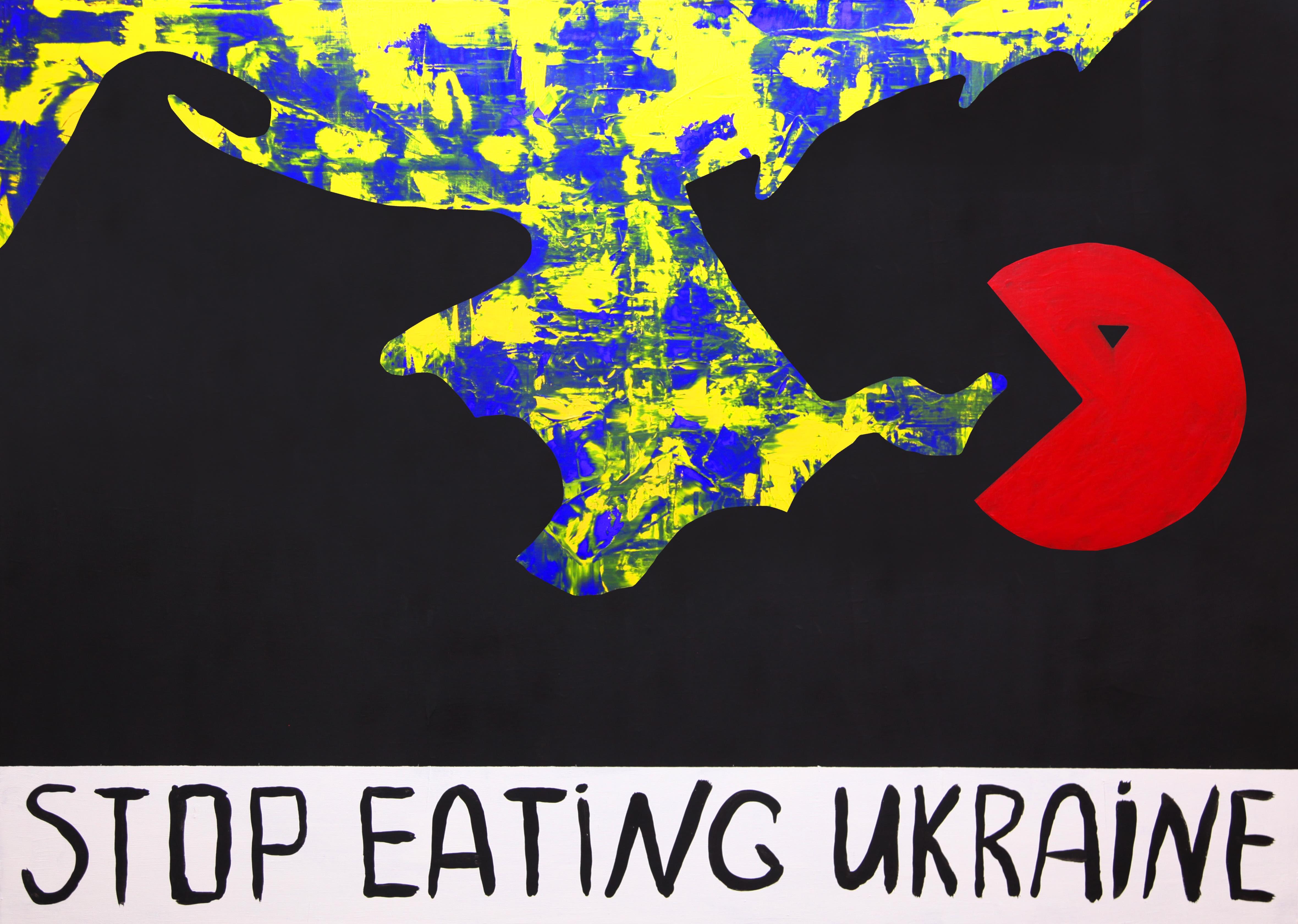 У Києві пройде виставка картин російського опозиціонера STOP EATING UKRAINE - фото 1