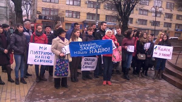 Вінничани вийшли на Майдан, щоб підтримати Надію Савченко - фото 4