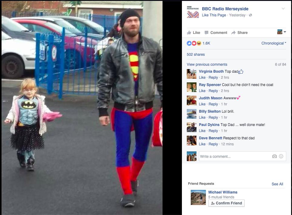 Як тато підтримав донечку в костюмі Бетмена, яка нервувалася через свій наряд - фото 1