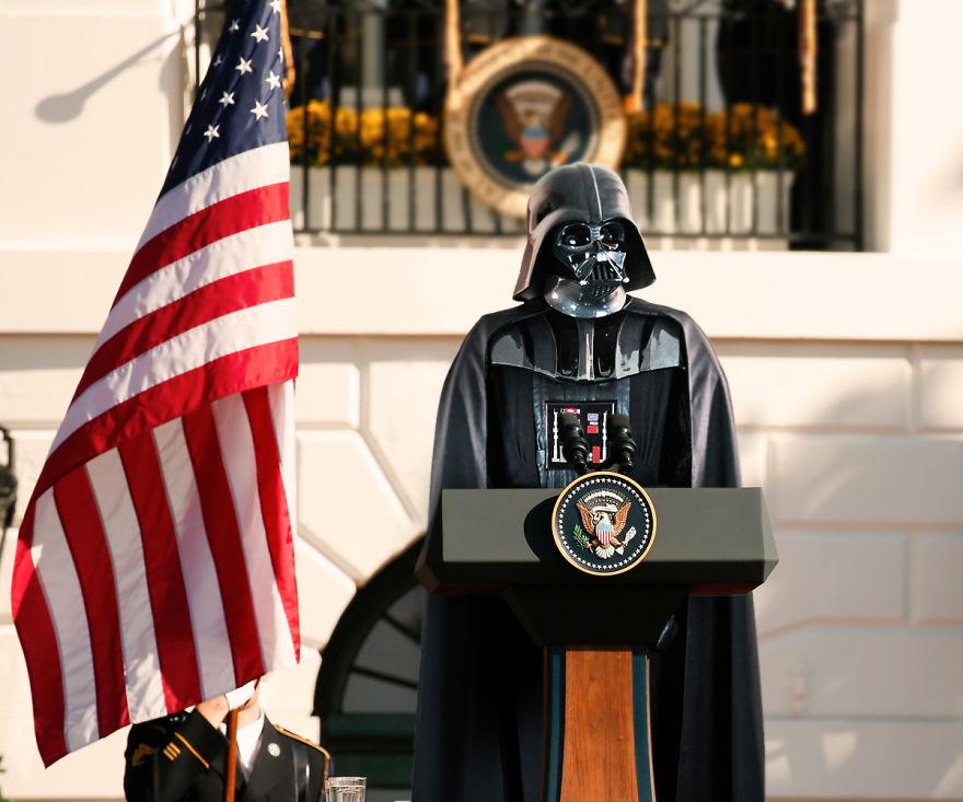 Як виглядали б Дарт Вейдер, майстер Йода та Чубака у ролі світових лідерів  - фото 10