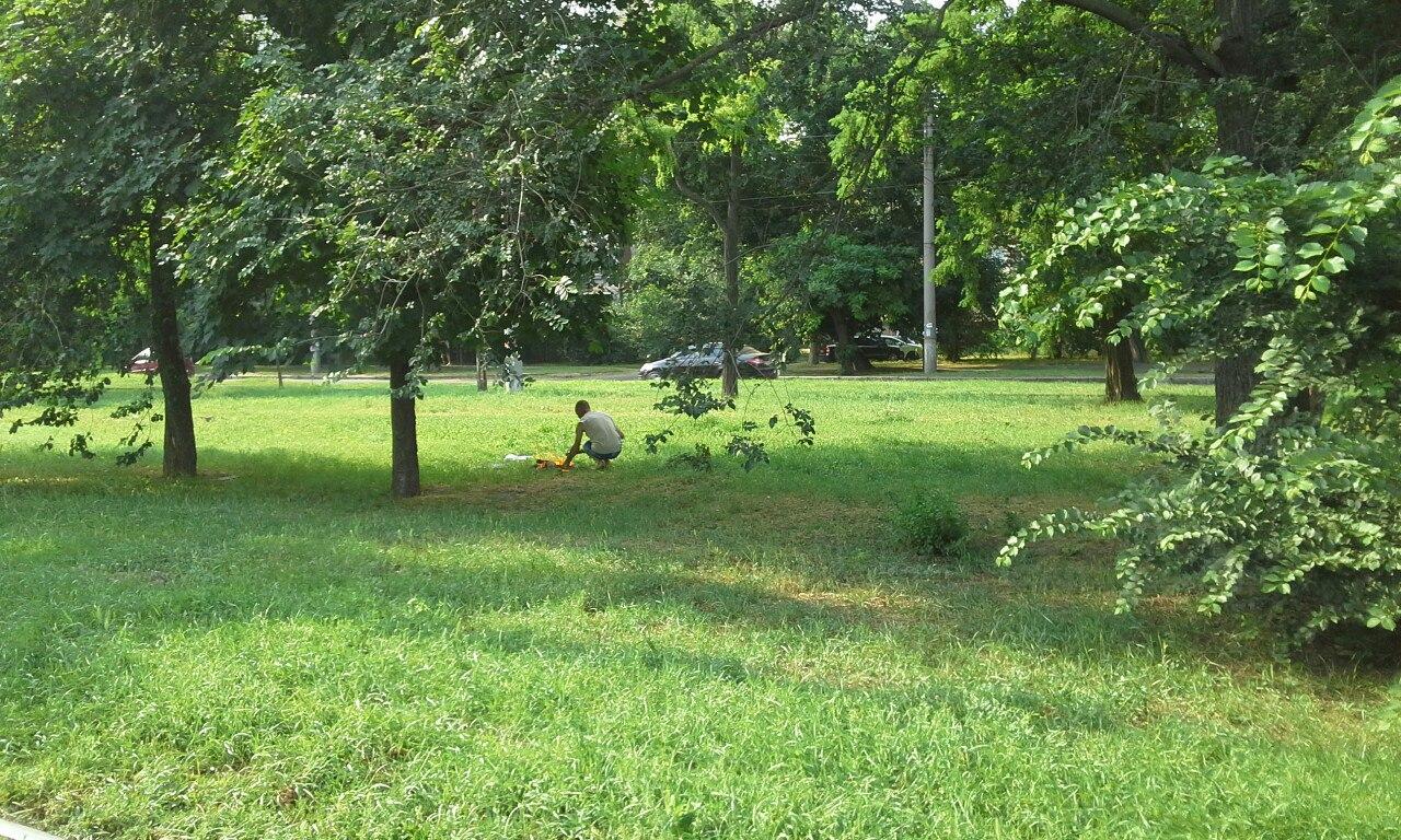 У Миколаєві нахабні городяни смажили шашлики прямо на газоні - фото 2