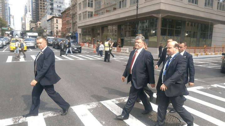 Як Порошенко розгулював вулицями Нью-Йорка - фото 1
