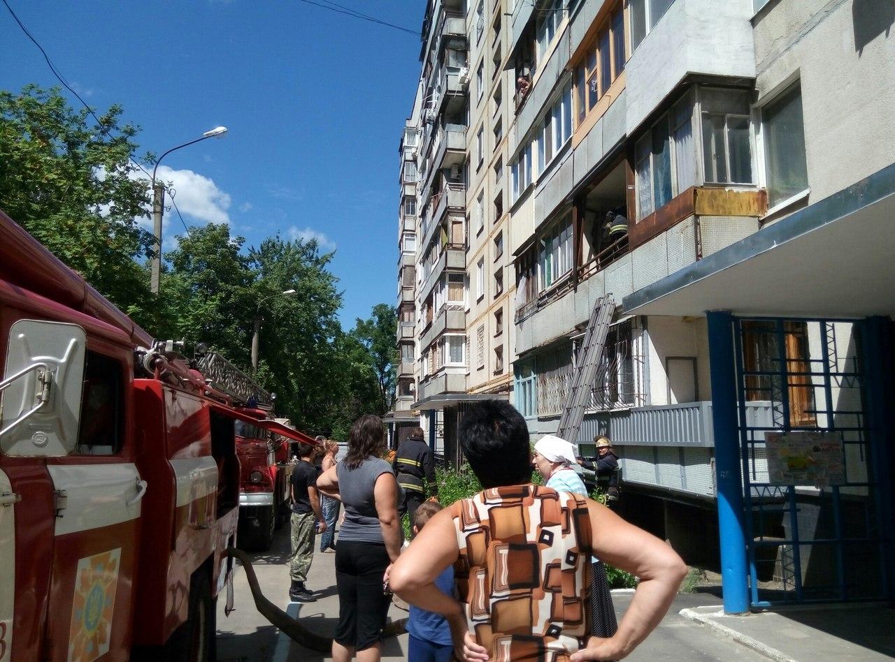 Очевидці повідомили про загоряння у дев`ятиповерхівці  - фото 1
