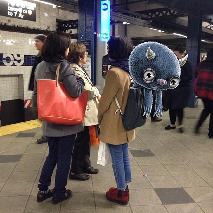 Як художник з Нью-Йорку нацьковує монстрів на пасажирів метро - фото 21