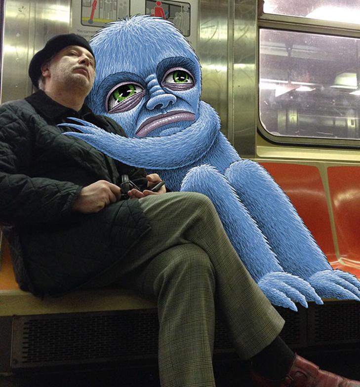 Як художник з Нью-Йорку нацьковує монстрів на пасажирів метро - фото 26