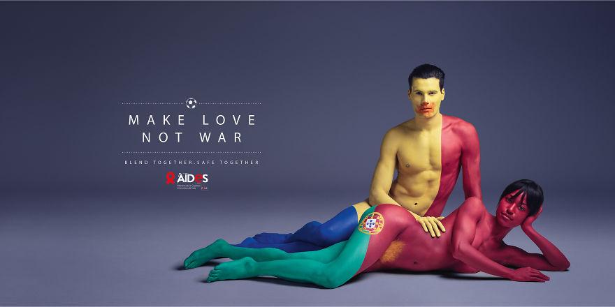 Як кольорові голі люди пестилися проти СНІДу - фото 1