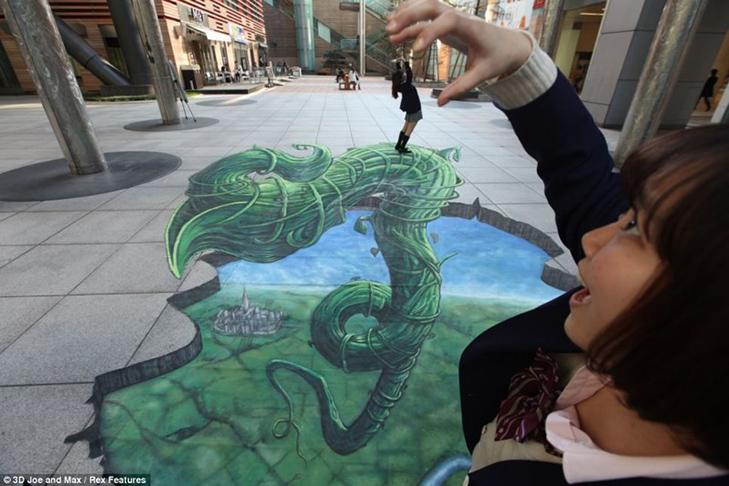 40 неймовірних 3D малюнків на асфальті - фото 16