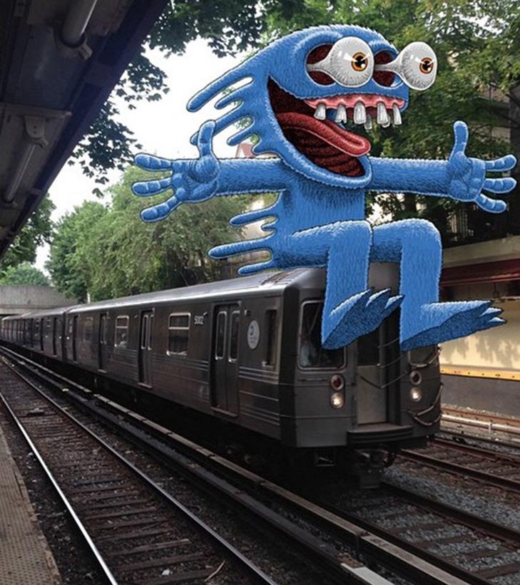 Як художник з Нью-Йорку нацьковує монстрів на пасажирів метро - фото 35