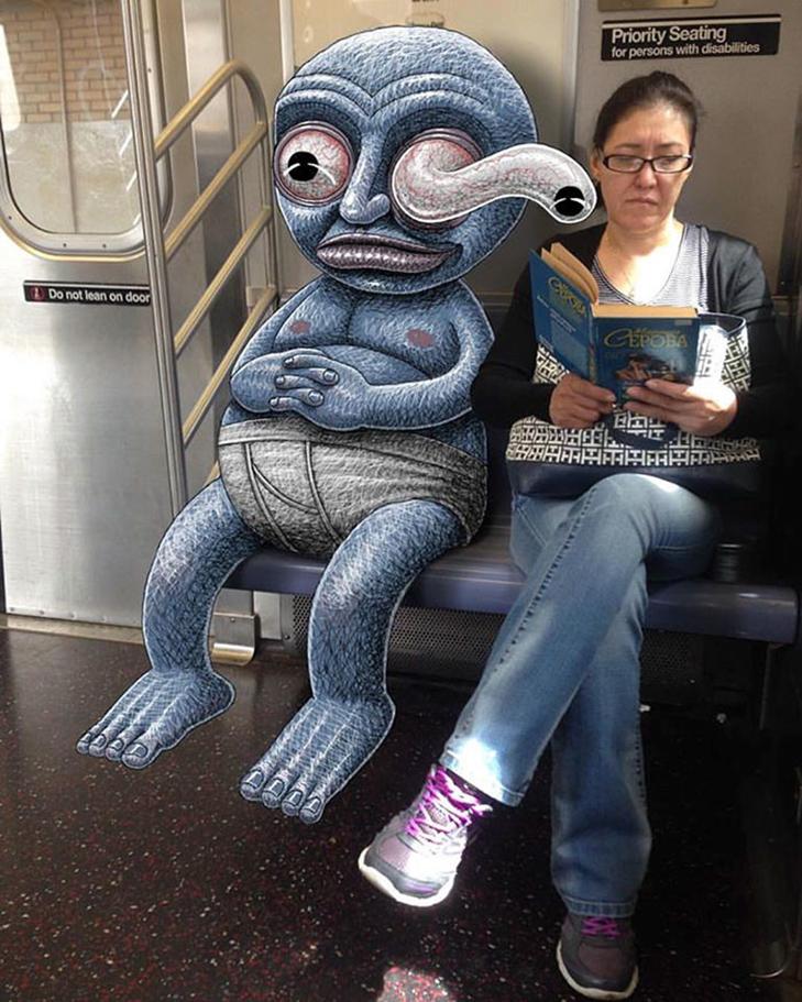 Як художник з Нью-Йорку нацьковує монстрів на пасажирів метро - фото 34