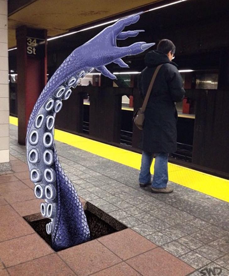Як художник з Нью-Йорку нацьковує монстрів на пасажирів метро - фото 33