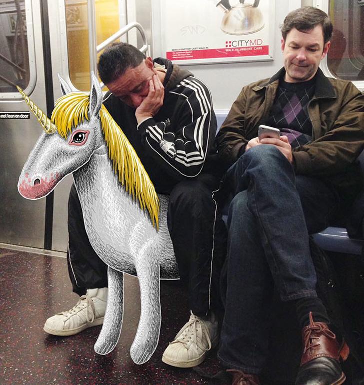 Як художник з Нью-Йорку нацьковує монстрів на пасажирів метро - фото 3