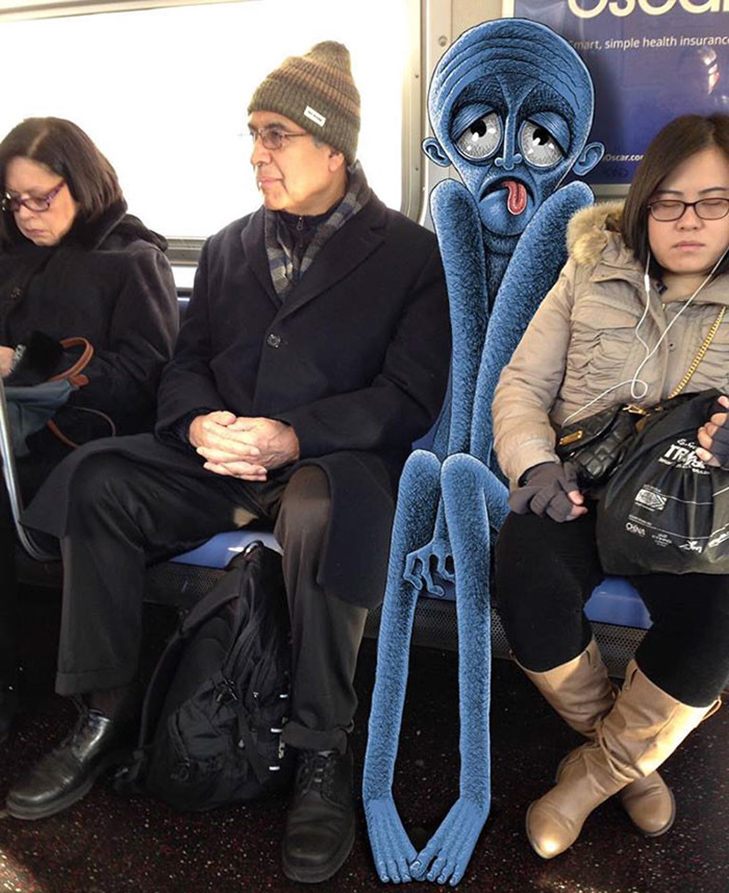 Як художник з Нью-Йорку нацьковує монстрів на пасажирів метро - фото 8