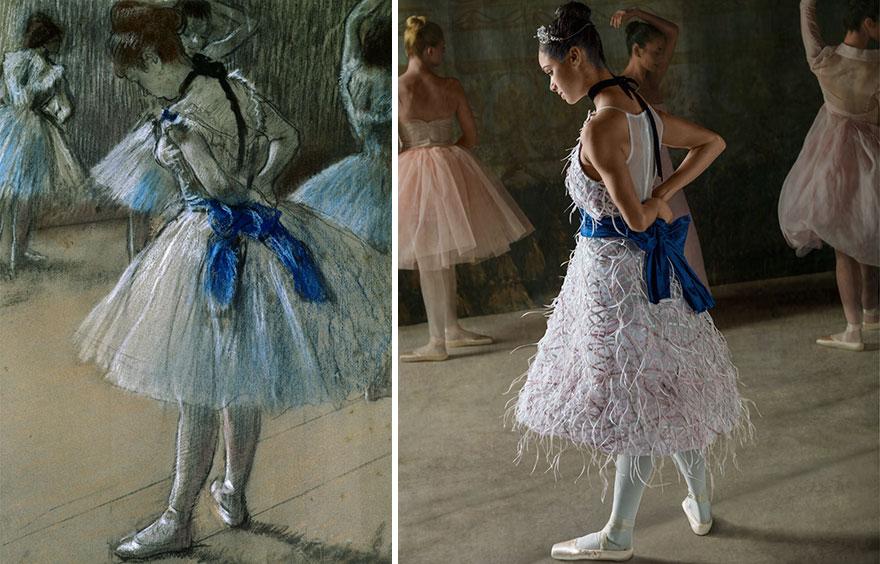 """Як неймовірно гарна балерина """"оживила"""" картини відомого імпресіоніста  - фото 3"""