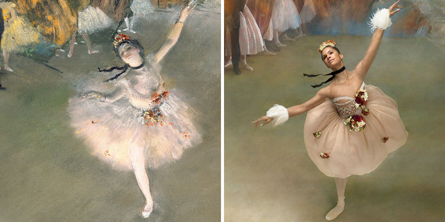 """Як неймовірно гарна балерина """"оживила"""" картини відомого імпресіоніста  - фото 2"""