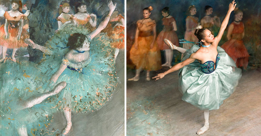 """Як неймовірно гарна балерина """"оживила"""" картини відомого імпресіоніста  - фото 1"""