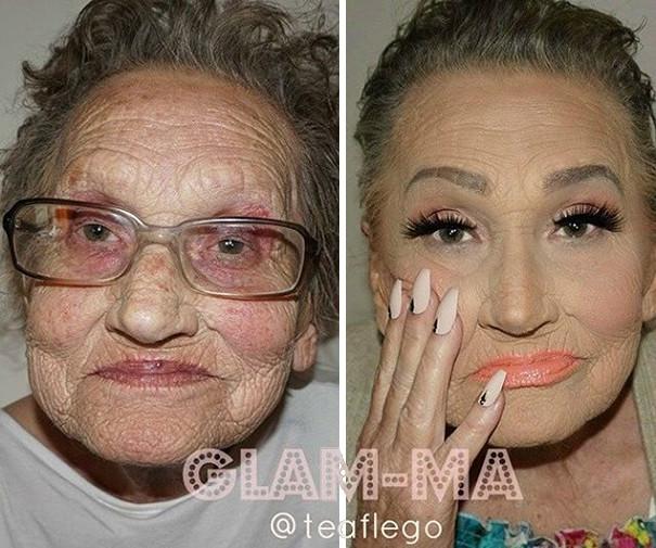Старенька попросила онуку трохи її підфарбувати і стала мемом - фото 1