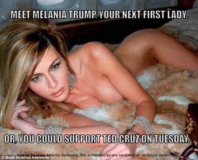 Як противники  використали голу дружину Трампа для ефектної кампанії - фото 1
