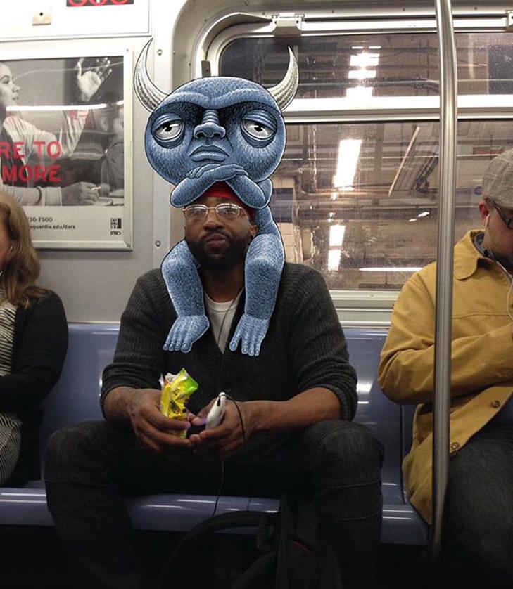 Як художник з Нью-Йорку нацьковує монстрів на пасажирів метро - фото 4