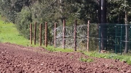 Награнице Польши иКалининградской области строят забор