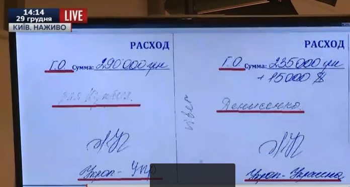 """ГПУ накопала в квартирі Корбана чорну бухгалтерію із """"зарплатами"""" нардепів - фото 1"""