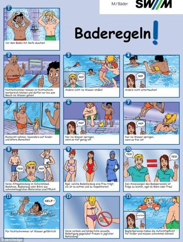 У Німеччині через біженців у басейнах заборонили чіпати сідниці - фото 1