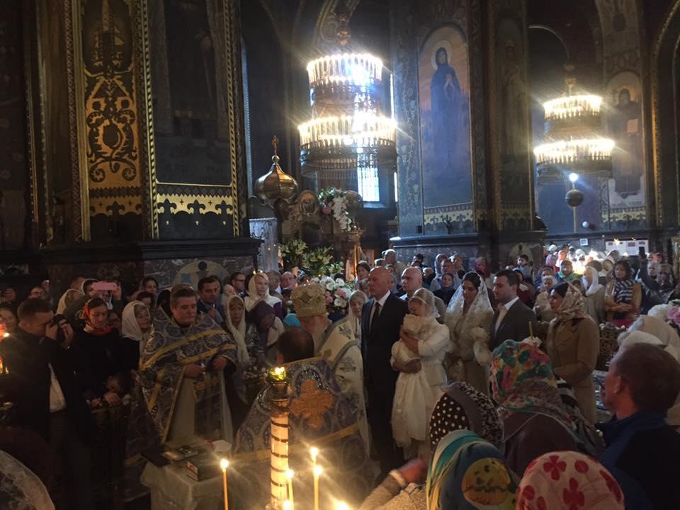 Тимошенко похрестила онучку у Володимирському соборі - фото 3
