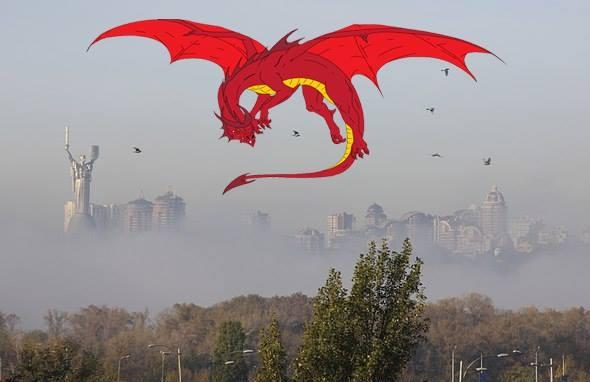 Їжачок в тумані і гламурний протигаз: ТОП-13 приколів про смог у Києві - фото 4