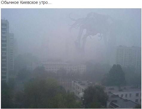 Їжачок в тумані і гламурний протигаз: ТОП-13 приколів про смог у Києві - фото 11