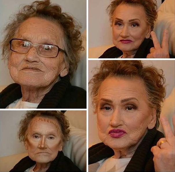 Старенька попросила онуку трохи її підфарбувати і стала мемом - фото 3