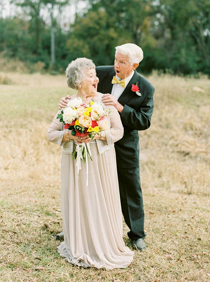 Пара, яка зробила першу весільну фотосесію через 63 роки, підірвала інтернет - фото 3