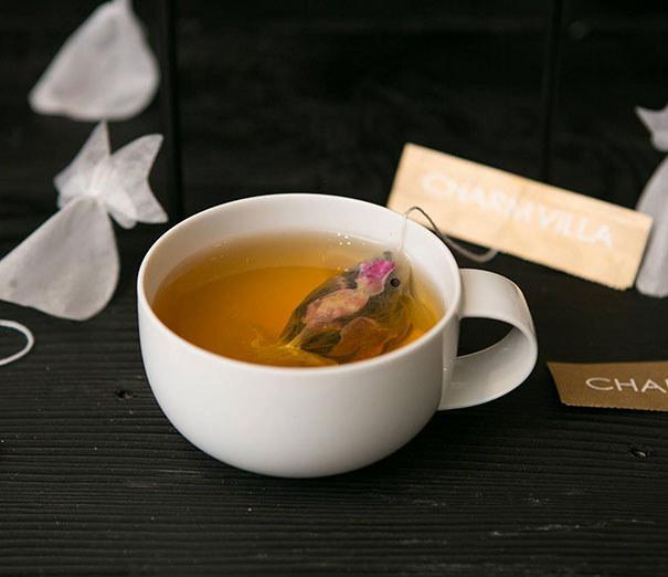 Як виглядають пакетики чаю у вигляді золотих рибок  - фото 2