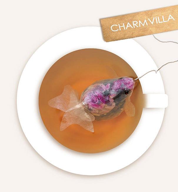 Як виглядають пакетики чаю у вигляді золотих рибок  - фото 1
