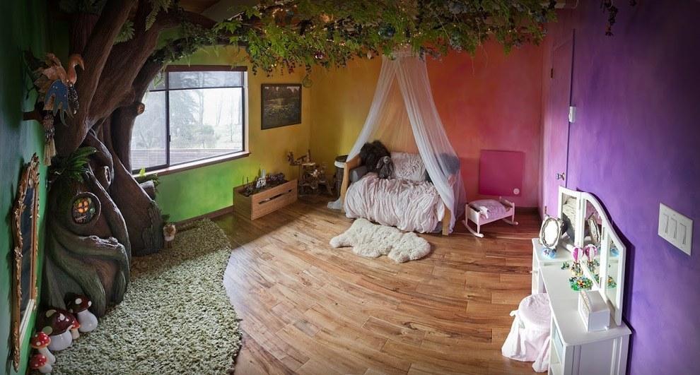 Як тато зробив у кімнаті доньки чарівний ліс - фото 6