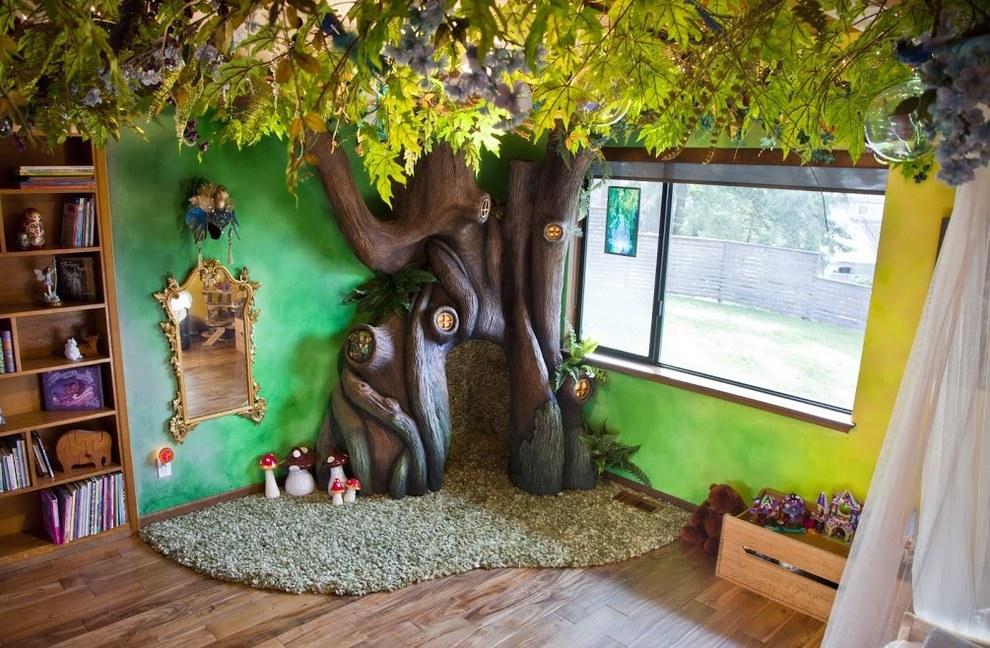 Як тато зробив у кімнаті доньки чарівний ліс - фото 5