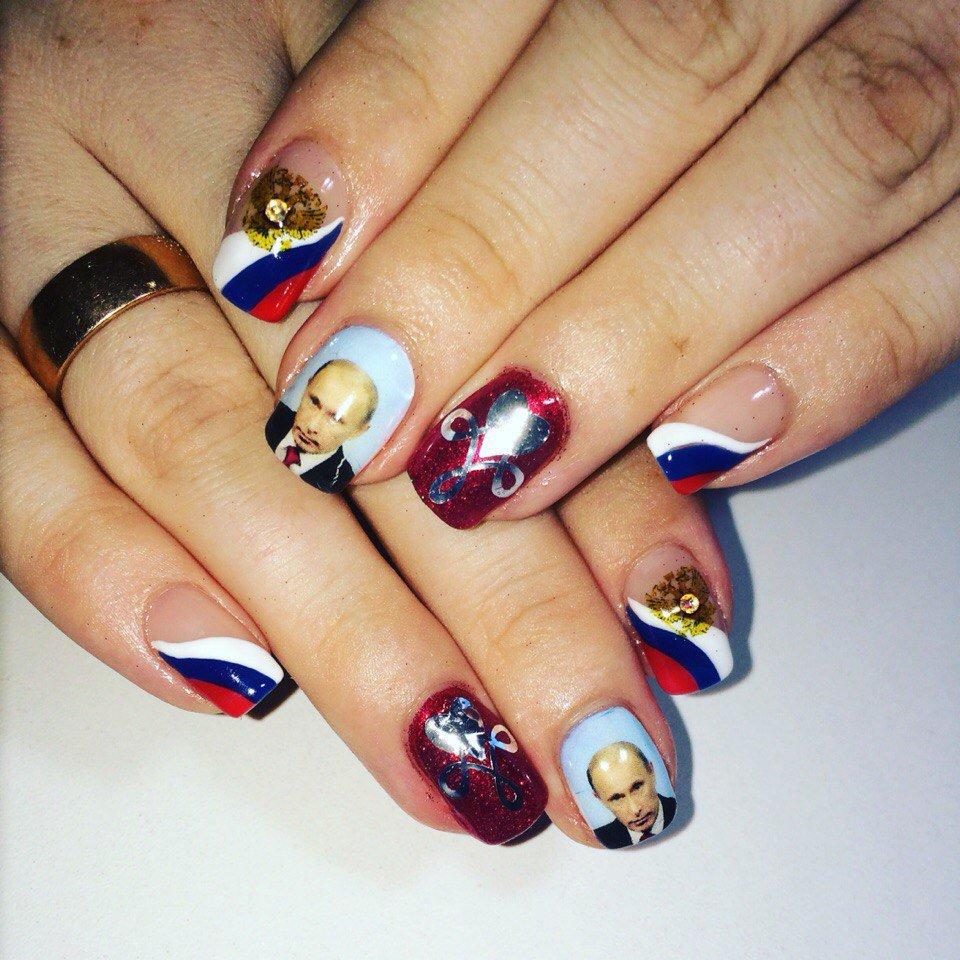 Новий раша-тренд: Путіна вже малюють на нігтях - фото 1