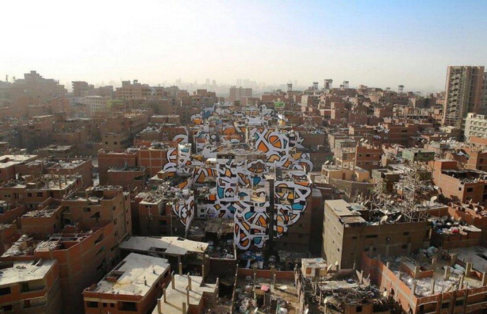 Гігантський мурал у Каїрі простягнувся на 40 будинків - фото 1