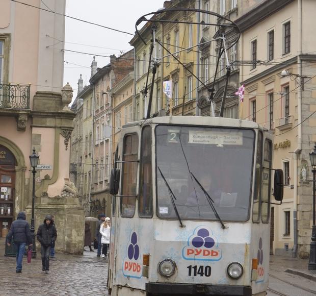 Львівські трамваї забрендували шаховою символікою - фото 1