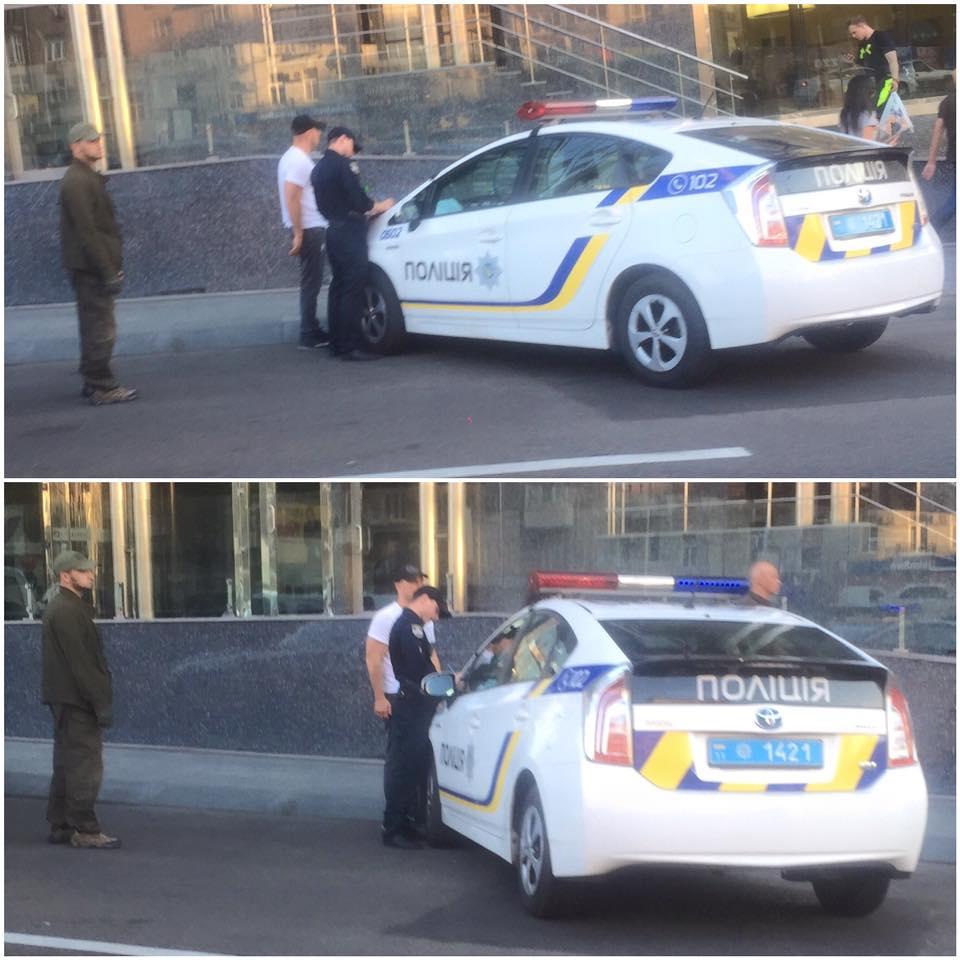 """Київська поліція оштрафувала """"наркоборця"""" Ківу за неправильне паркування BMW 7 - фото 1"""