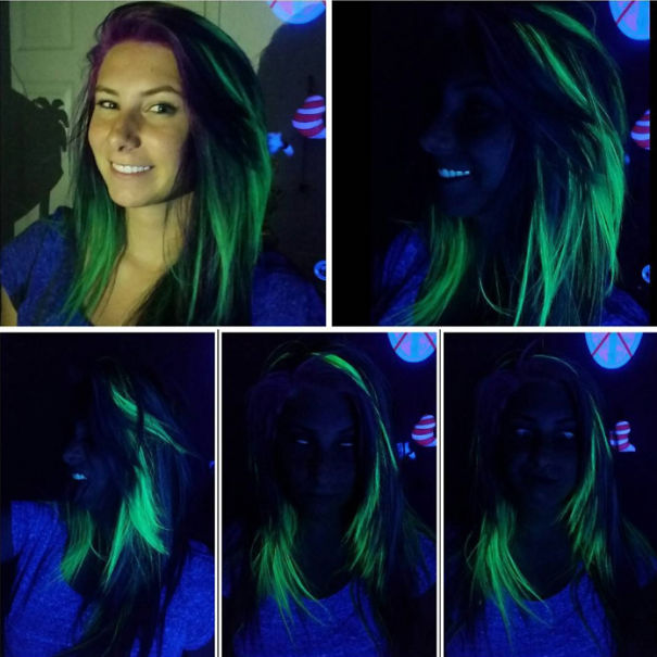 Новий тренд волосся, яке світиться у темряві, підірвав інтернет  - фото 1