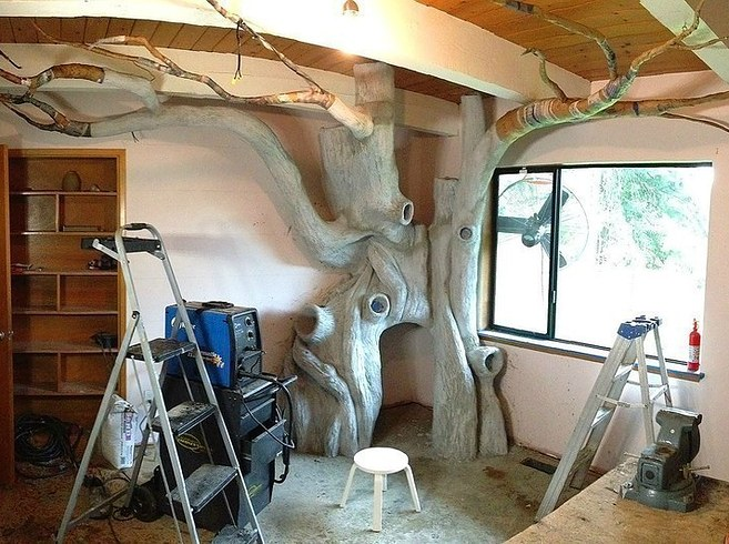 Як тато зробив у кімнаті доньки чарівний ліс - фото 4