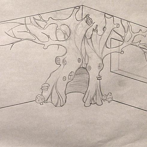 Як тато зробив у кімнаті доньки чарівний ліс - фото 2