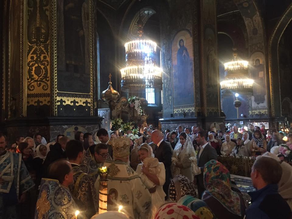 Тимошенко похрестила онучку у Володимирському соборі - фото 1
