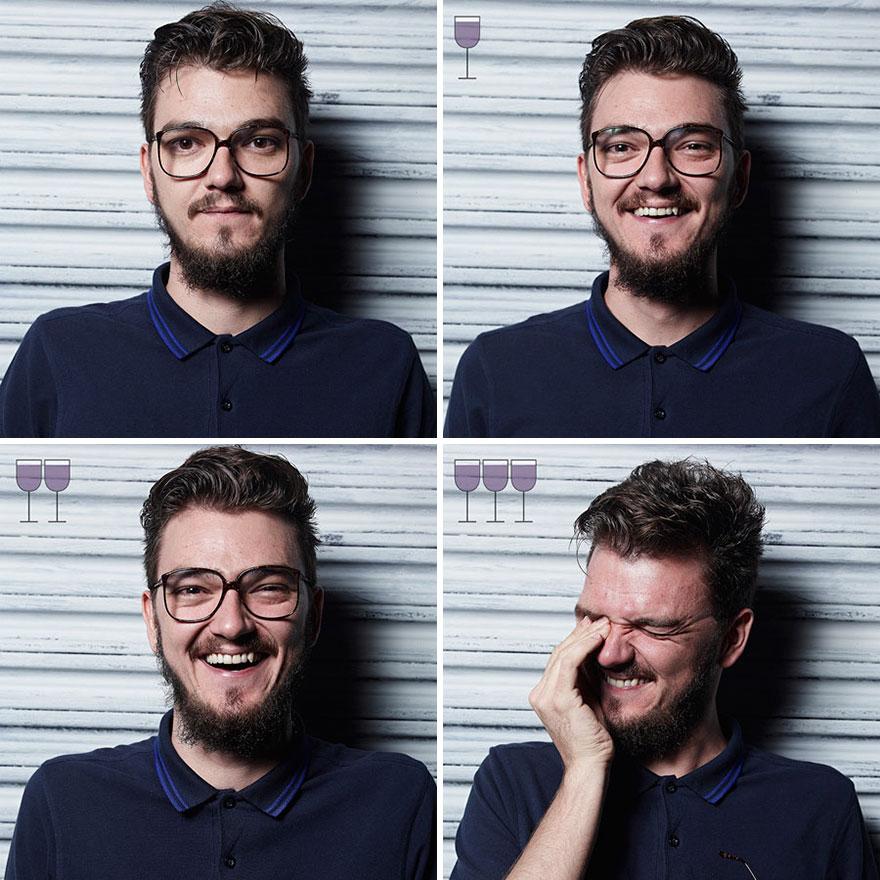 Як виглядають люди після 1, 2 та 3 келихів вина - фото 2