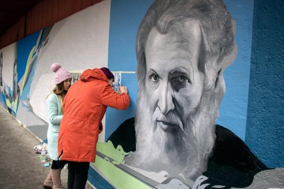 У Львові відкрили величезне графіті, присвячене митрополиту Шептицькому - фото 4