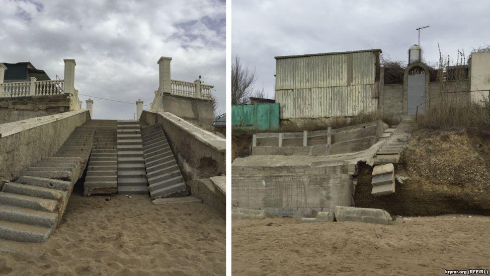 Розбиті сходи, брудні пляжі: у Криму показали готовність до курортного сезону (ФОТО) - фото 4