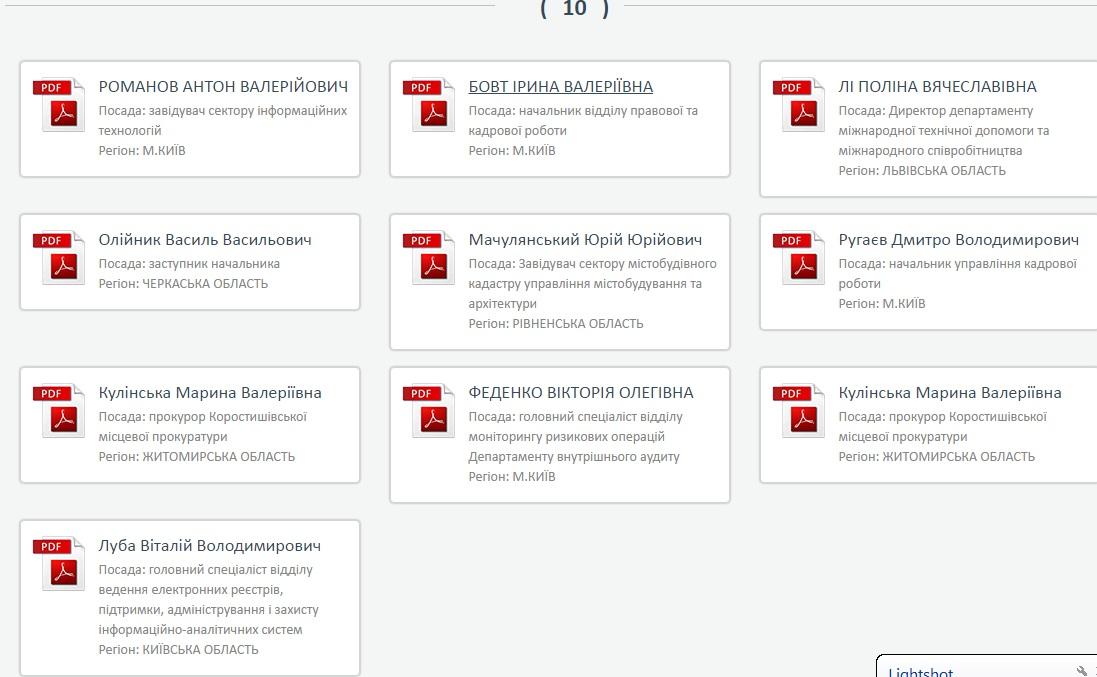 На сайті НАЗК з'явився перший десяток електронних декларацій чиновників - фото 1