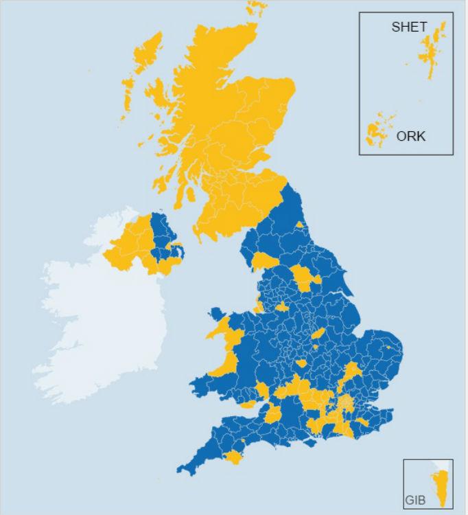 Як британці голосували за вихід з ЄС (КАРТА) - фото 1