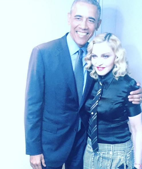 Як Обама Мадонну обіймав - фото 1