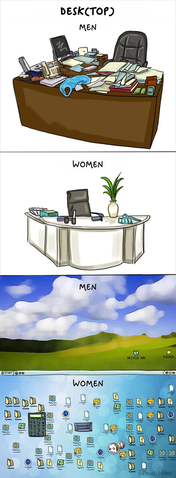 Жінки vs чоловіки: 14 яскравих відмінностей у коміксах - фото 5